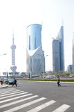 Shanghai construction traffic Royalty Free Stock Images