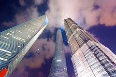 Shanghai 3 costruzioni le più alte Immagine Stock Libera da Diritti