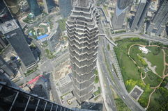 Shanghai da sopra Fotografia Stock Libera da Diritti