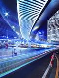 Shanghai-Datenbahn nachts Stockbilder