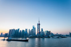 Shanghai in dawn Stock Image