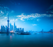 Shanghai in dawn Stock Photos