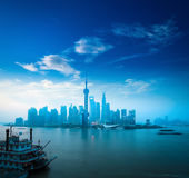 Shanghai in daybreak Stock Photo