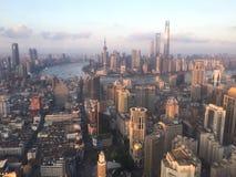Shanghai de dijkmening royalty-vrije stock fotografie