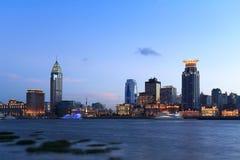 Shanghai de scène van de dijknacht Royalty-vrije Stock Afbeeldingen
