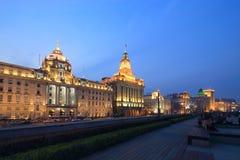 Shanghai de scène van de dijknacht Royalty-vrije Stock Foto's