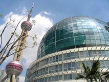 Shanghai de stad in Stock Foto
