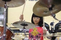 Shanghai den internationella musikinstrumentutställningen 2014 Arkivfoton