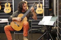 Shanghai den internationella musikinstrumentutställningen 2014 Arkivfoto
