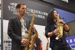 Shanghai den internationella musikinstrumentutställningen 2014 Arkivbild