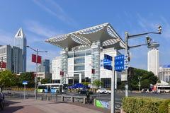 Shanghai den storslagna teatern i fyrkant för folk` s Arkivfoto