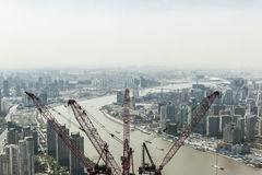 Shanghai in developing Royalty Free Stock Photos