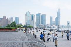 Shanghai, die Promenade Lizenzfreie Stockfotos