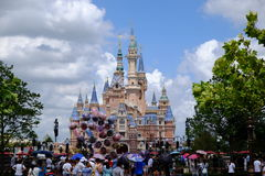 Shanghai Disney Castle Stock Images