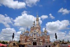 Shanghai Disney Castle. Under blue sky Stock Photography