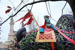 Shanghai Disney värld festooned medelkryssning arkivfoton