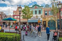 Shanghai Disneyland in Shanghai, China stock afbeeldingen