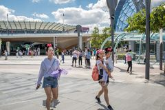 Shanghai Disneyland in Shanghai, China stock foto's