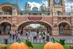 Shanghai Disneyland i Shanghai, Kina arkivbild