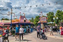Shanghai Disneyland i Shanghai, Kina royaltyfri fotografi
