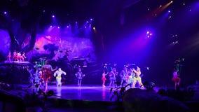 Shanghai Disneyland i Kina arkivfilmer