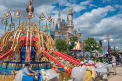 Shanghai Disneyland in Shanghai, China. Shanghai, China: September 24, 2018: Shanghai Disneyland in Shanghai China. Shanghai Disneyland opened in June 16, 2016 royalty free stock photos