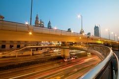 Shanghai Downtown Highway Stock Photo