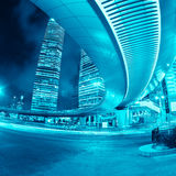 Shanghai downtown at night Royalty Free Stock Images