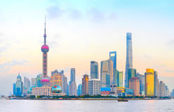 Shanghai Downtown skyline, China royalty free stock images