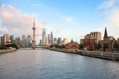Shanghai at dusk Stock Photo