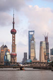 Shanghai in dusk Royalty Free Stock Photo