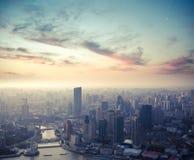 Shanghai at dusk Stock Image