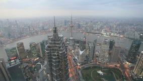 Shanghai at dusk, China Royalty Free Stock Images