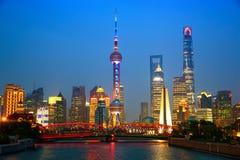Shanghai at dusk Royalty Free Stock Photos