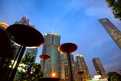 Shanghai at dusk Stock Photography