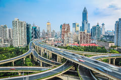 Shanghai elevated road  junction Stock Photo
