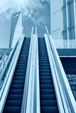 Shanghai. Escalator to the sky, urban fantasy landscape,abstract expression Royalty Free Stock Images