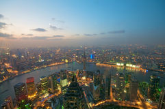 Shanghai Evening Skyline Royalty Free Stock Photography