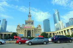 Shanghai Exhibition Center Royalty Free Stock Photography