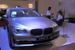 Shanghai Expo exhibition of luxury living BMW 7 Series Royalty Free Stock Image