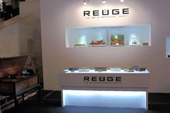 Shanghai Expo exhibition REUGE luxury living music box. Royalty Free Stock Images