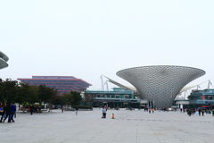 Shanghai expo garden under fog and haze Stock Photo