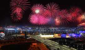 Shanghai  Expo opening ceremony fireworks Stock Photos