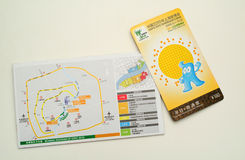 Shanghai Expo Tickets. The 2010 World Expo will be held in Shanghai, welcome foreign friends to visit together Stock Images