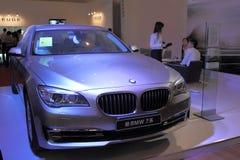 Shanghai expoutställning av lyxiga bosatta BMW 7 serie Royaltyfri Bild