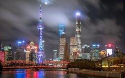 Shanghai för flyg- sikt horisont royaltyfri foto