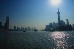 ŒShanghai för Shanghai landmarkï¼ Bund Arkivbilder