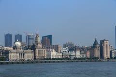 ŒShanghai för Shanghai landmarkï¼ Bund Arkivfoto