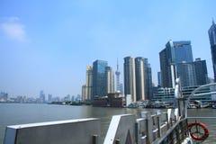 ŒShanghai för Shanghai landmarkï¼ Bund Arkivfoton