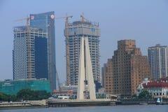 ŒShanghai för Shanghai landmarkï¼ Bund Royaltyfria Bilder